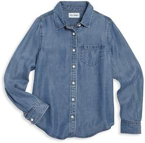 DL1961 Premium Denim Girl's Patch Pocket Shirt