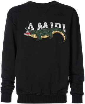 Amiri alligator sweatshirt