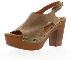 Sbicca Brown Gold Sandal