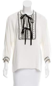 Andrew Gn Embellished Silk Top