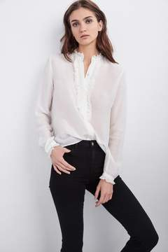 Velvet by Graham & Spencer WILLOW SILK RUFFLE BLOUSE