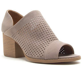 Qupid Taupe Perforated Core Sandal - Women