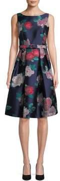 Eliza J Floral Fit-&-Flare Dress