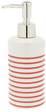 kate spade new york Paintball Floral Collection Striped Lotion Dispenser