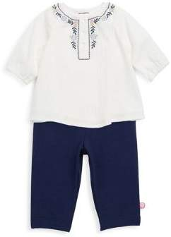 Offspring Baby Girl's Two-Piece Woven Tunic and Legging Set