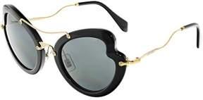 Miu Miu Miu Women's MU11RS-1AB1A1-52 Black Butterfly Sunglasses