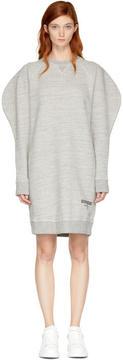 DSQUARED2 Grey Puff Sleeve Sweatshirt Dress