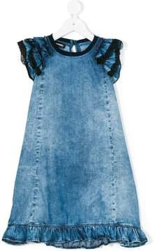 Diesel ruffled denim dress