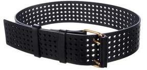 Saint Laurent Perforated Leather Belt