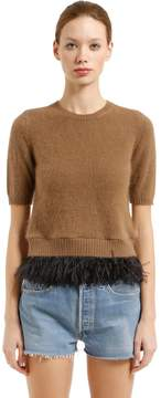 N°21 Round Neck Sweater With Feathers