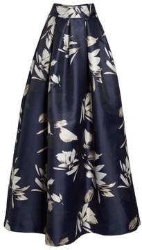Eliza J Women's Metallic Jacquard Ball Skirt