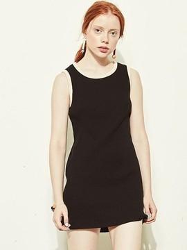 Blank Simple Dress-bk