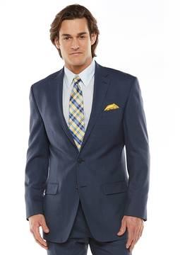 Chaps Men's Black Label Classic-Fit Navy (Blue) Wool-Blend Stretch Suit Jacket