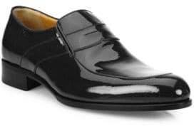 a. testoni Slip-On Patent Leather Shoes