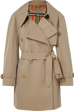 Burberry The Fortingall Cotton-gabardine Trench Coat - Beige