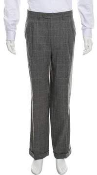 Luciano Barbera Wool Flat-Front Pants w/ Tags