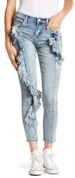 Blank NYC BLANKNYC High Rise Side Ruffle Skinny Jeans