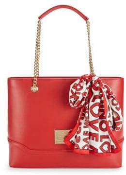 Love Moschino Scarf Faux Leather Tote