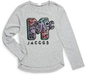 Little Marc Jacobs Little Girl's & Girl's Mini Me MTV Style Long-Sleeve Tee