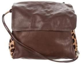 Carlos Falchi Ponyhair & Leather Bag