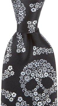 Murano Skull Narrow Silk Tie