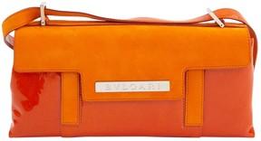 Bulgari Orange Patent leather Handbag