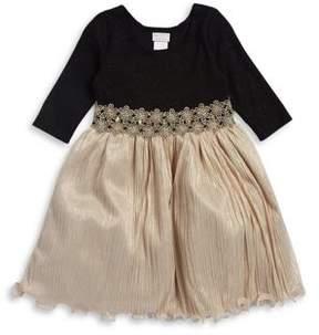 Iris & Ivy Girl's Three-Quarter Sleeve Dress