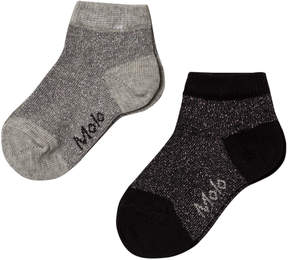 Molo Pack of 2) Black and Grey Sparkly Nice Socks