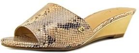 Thalia Sodi Riya W Open Toe Canvas Slides Sandal.