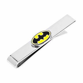 Accessories Enamel Oval Batman Logo Tie Bar