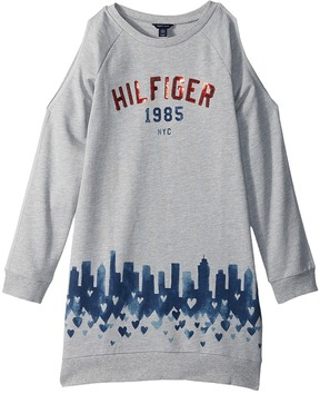 Tommy Hilfiger Open Shoulder Sweatshirt Dress Girl's Dress