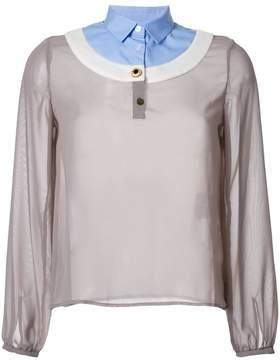 Kolor contrast neck blouse
