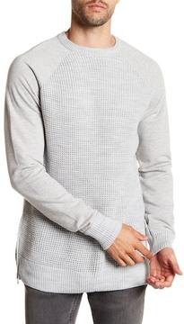 Karl Lagerfeld Raglan Sleeve Waffle Knit Pullover