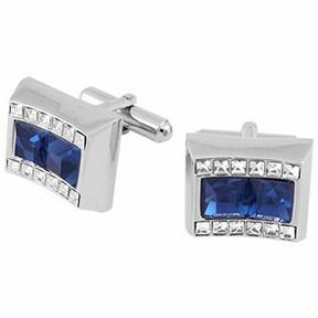 Forzieri Blue Square Stone Cufflinks