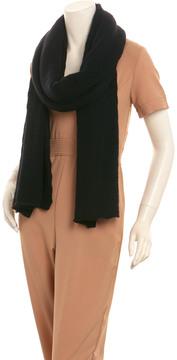 Portolano Women's Black Cashmere Eyelet Wrap