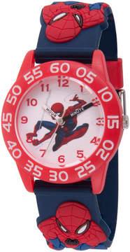 Marvel Spiderman Boys Blue Strap Watch-Wma000169