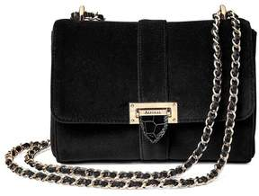 Aspinal of London Small Lottie Bag In Black Velvet