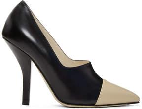 Fendi Black Cap Toe Heels