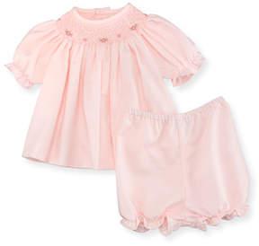 Luli & Me Smocked Bishop Dress w/ Bloomers, Pink, Size Newborn-9 Months