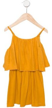 Chloé Girls' Gathered Sleeveless Dress