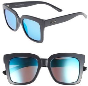 Quay Women's Supine 51Mm Square Sunglasses - Grey/ Blue Mirror