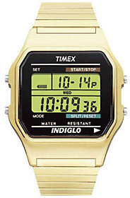 Timex Men's Digital Goldtone Expansion Band Bracelet Watch