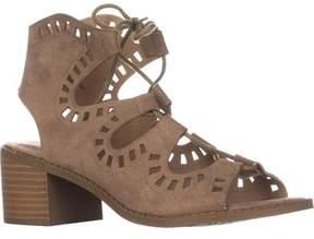 Esprit Lotus Cutout Lace Up Sandals, Nude.