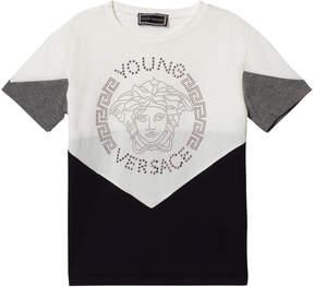 Versace Monochrome Colour Block Stud Medusa T-Shirt
