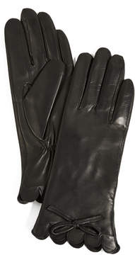 Kate Spade Scallop Leather Gloves