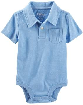 Osh Kosh Oshkosh Bgosh Baby Boy Slubbed Pocket Polo Bodysuit