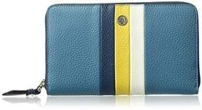 Anne Klein Stripe Zip Around Wallet