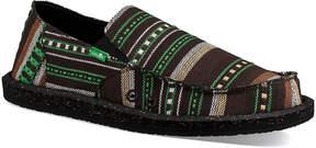 Sanuk Green Blanket Geometric Vagabond Funk Slip-On Shoe - Men