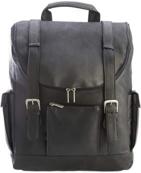 Royce Leather Colombian Leather Backpack with Laptop Sleeve