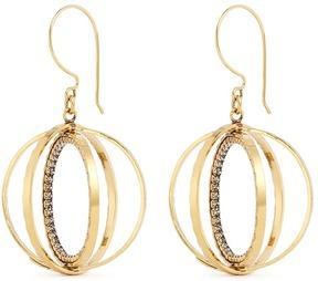 Erickson Beamon 'Third Dimension' Swarovski crystal sphere drop earrings